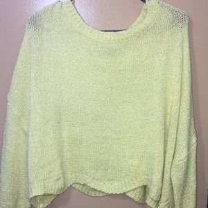 Neon Cropped Sweater
